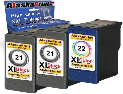 3 x - Cartuchos de impresora 2 x HP 21 + 22 - C9351AE ...