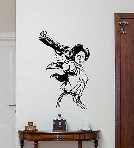 Princess Leia Star Wars Wall Decal Vinyl Sticker Cartoons Boy Kids Wall Art Nursery Decor Mural (Princess Leia Quotes)
