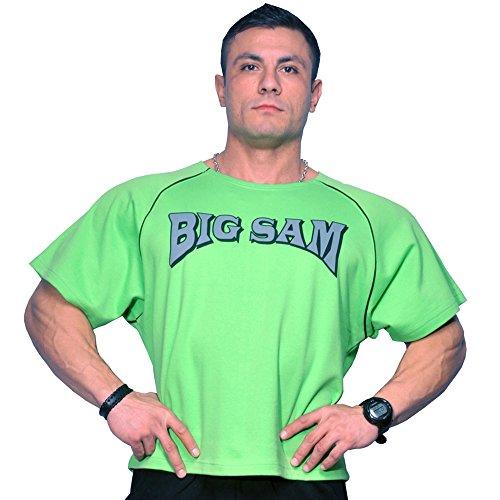 (BIG SAM SPORTSWEAR COMPANY Bodybuilding Men's Ragtop Rag Top Sweater Gym T-Shirt 3026 XXL Green )
