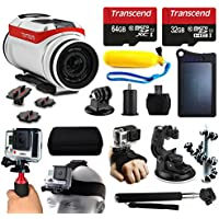 TomTom Bandit 4K HD Action Camera + 96GB Essetial Accessories Bundle includes Solar Charger + Stabilizer + Head Strap + Car Mount + Selfie Stick + Travel Case + Car Charger + More!