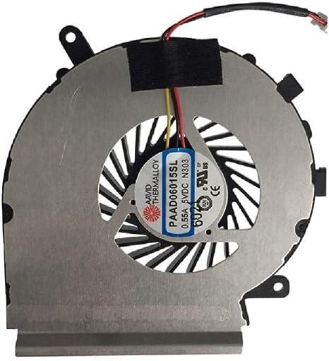 X-Comp PAAD06015SL-N303 - Ventilador de CPU para MSI GE62 GE72 ...