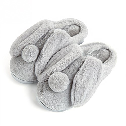 Slippers DWW Cotton wear-resistant men's thick winter warm home indoor non-slip shoes Gray fcSsmoEQL