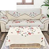 Embroidery fabric sofa cushions sofa back towel rural non slip cushion D 90x160cm(35x63inch)