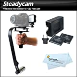 Professional Digital SLR Camera Stabilizer with LED Light Set Includes Action Stabilizing Handle + Deluxe LED Light Kit For Sony Alpha NEX-5T, NEX-5R, NEX-5T, NEX-3N, NEX-6, NEX-7 Compact interchangeable Lens Digital Camera
