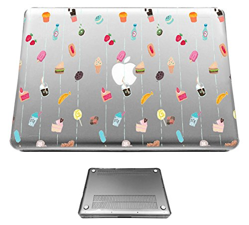 12' Cookie (c01354 - Banana Strawberry Cookie Chocolate Latte Kiwi Treats Design Macbook pro Retina 12'' (2015-2016) Fashion Trend CASE Full COVER Front And Back Full Protective Cover Case)