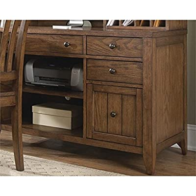 "Liberty Furniture 382-HO121 Hearthstone Home Office Computer Credenza, 44"" x 22"" x 31"", Rustic Oak"