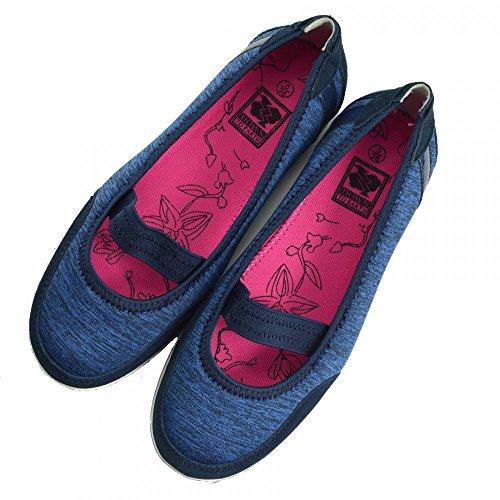 Ladies Piatto f80209 Comfort Jane Donna Marina Scarpe Pompe Camminare Mary Footwear Ballerina Kick gxqEHn11