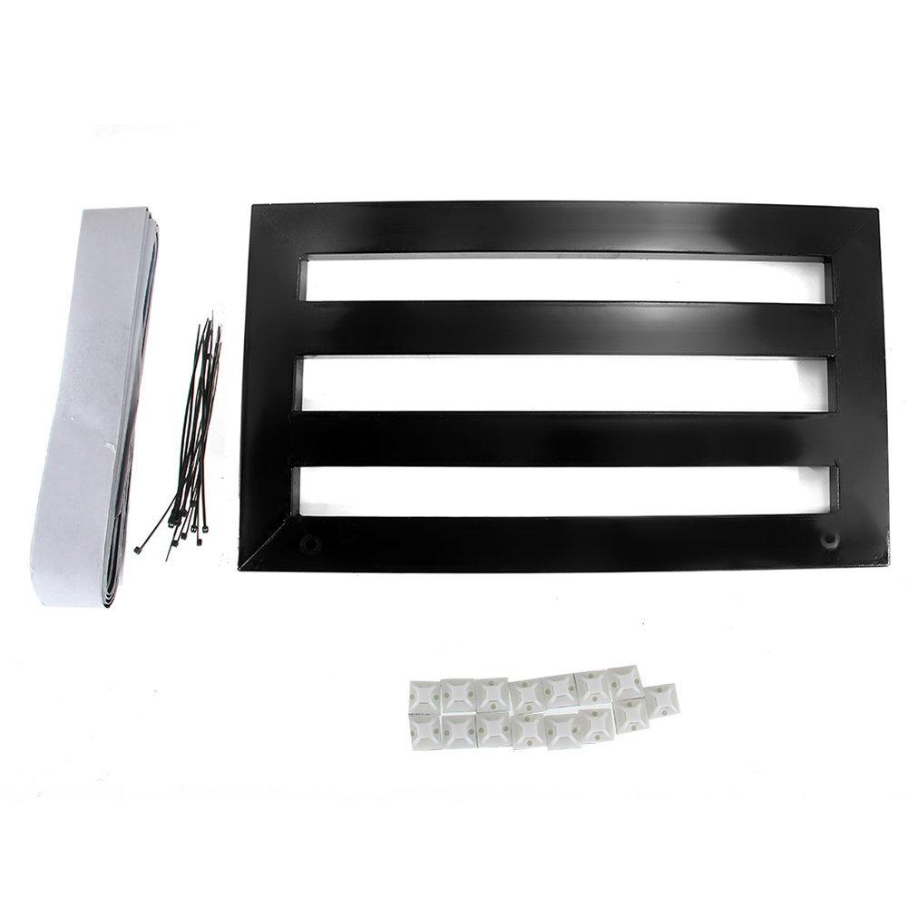 Awakingdemi Portable Guitar Effect Pedal Board Case Aluminum Alloy with adhesive backingTapes (M)