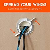 Echogear Off-White Cable Concealer for Wall Mounted