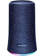 Bluetooth Speaker, Soundcore Flare Wireless Bluetooth Speaker by Anker, Portable Party Speaker with 360° Sound, Enhanced Bass & Ambient LED Light, IP67 Dustproof & Waterproof and 12-hour Batter - Blue