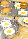 STAINLESS STEEL FLOWER SHAPED EGG/PANCAKE SHAPERS - SET OF 4 (TAKE THE BORING OUT OF BREAKFAST!)