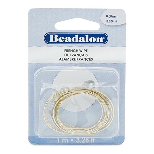 Beadalon French Wire 0.6mm Gold Color 1-Meter (Wire Bullion French)