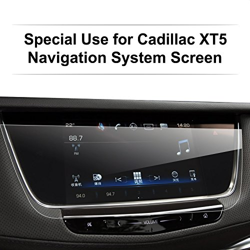 LFOTPP 2015-2018 Cadillac XT5 Car Navigation Screen Protector, 9H Tempered Glass Infotainment Screen Center Touch Screen Protector Anti Scratch High Clarity