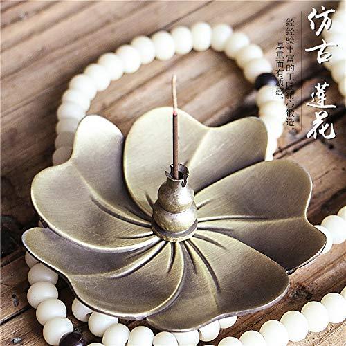 Incense Burner Lotus Flower Incense Burner Holder Stick Plate for Stick & Cone & Coil Incense (Water Drop)