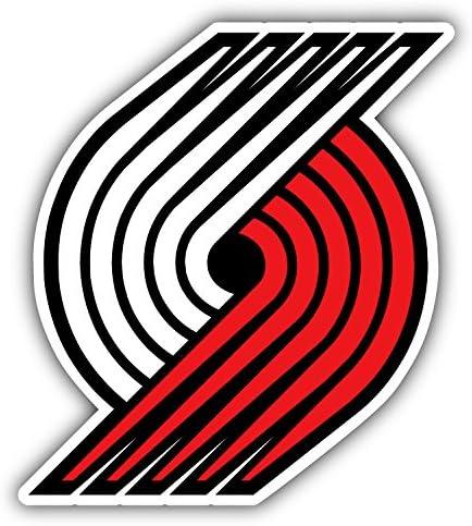 hotprint Blazers Basketball Portland Trail Logo Car Bumper Sticker Decal 4 X 5