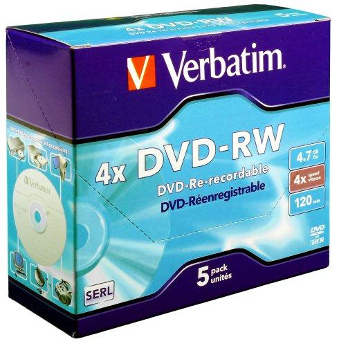 VERBATIM DVD-RW 4X 4.7GB 43285 PK5