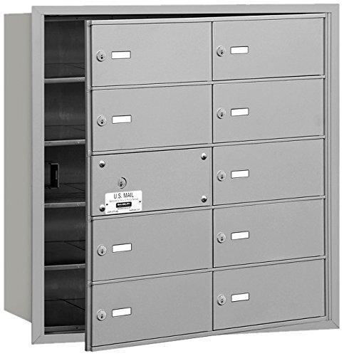 (Salsbury Industries 3610AFU 4B Plus Horizontal Mailbox, 10 B Doors 9 Usable, Front Loading, USPS Access, Aluminum)