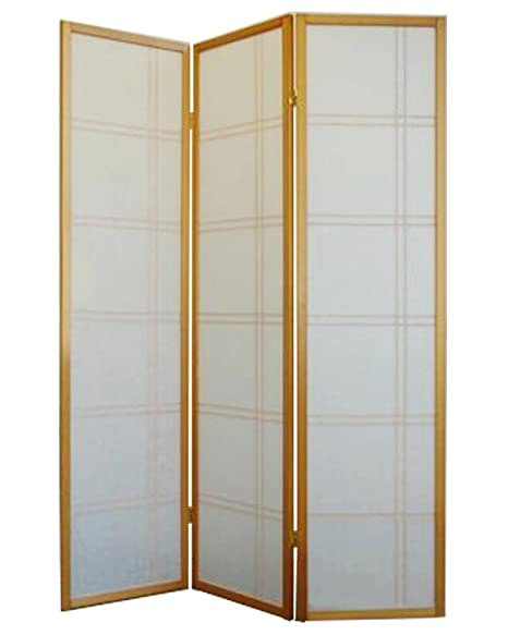 shiro room divider screen natural 3 panel foldable privacy