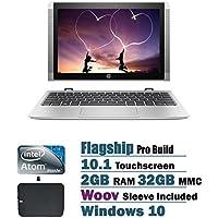 HP x2 Detachable 2 in 1 10.1 inch HD Touchscreen Flagship High Performance Laptop PC, Intel Atom x5-Z8350 1.44 GHz Quad-Core, 2GB RAM, 32GB eMMC, Bluetooth, WIFI, Windows 10, Silver