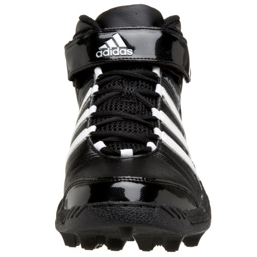 Adidas Mens Pro Intimidate Md Mid Tacchetta Da Calcio Nero / Bianco / Argento