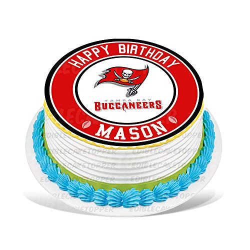 Tampa Bay Buccaneers Edible Cake Topper Personalized Birthday 10