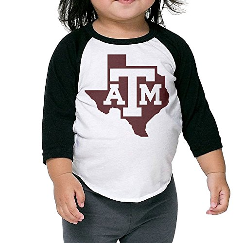 JccjCcjjC Middle Sleeve Texas A&m University T Shirt Tops For Children 2 Toddler