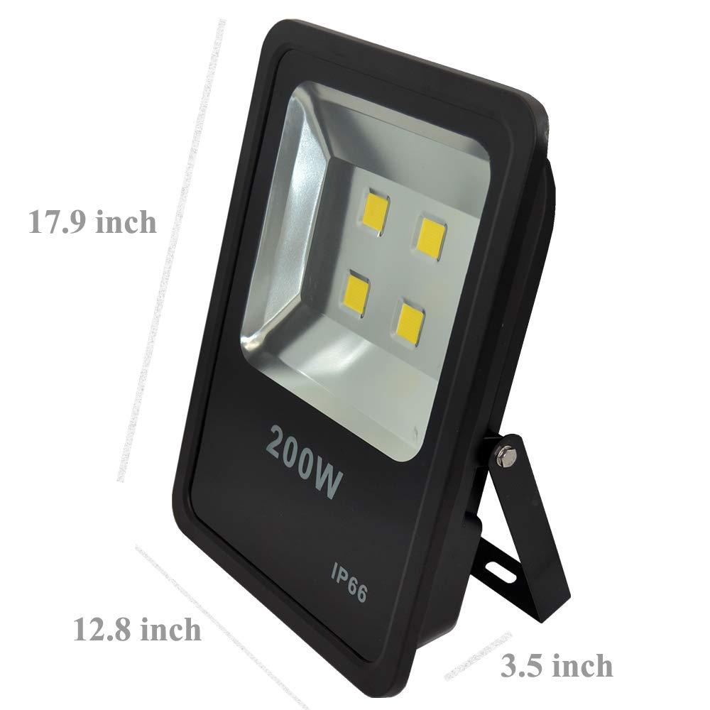 200W LED Flood Light 30000LM Stadium Lights Security Lighting fixtures Daylight AC110-240V by ZESOL (Image #4)