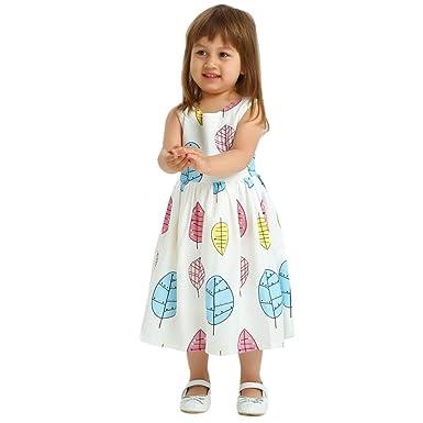 cb6deed15da0e CHshe Toddler Kids Baby Girls Sleeveless Print Dresses Clothes Party ...