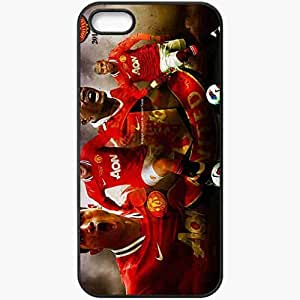Personalized iPhone 5 5S Cell phone Case/Cover Skin Manchester united 2012 Black