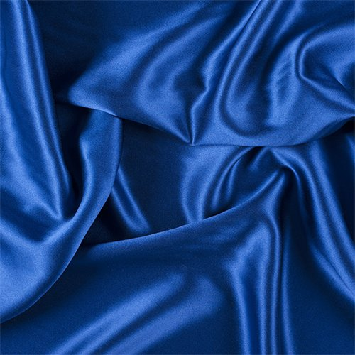 Blue Silk Crepe Back Satin, Fabric by The Yard ()