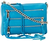 Rebecca Minkoff Mini 5 Zip Clutch,Turquoise,One Size, Bags Central