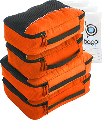 Bago 4 Travel Packing Cubes For Luggage Organizer / Suitc...