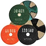 4 Segment, First Cut Standard Grade Ceramic Bond Diamond Tooling, 3, No Boss, 60/80 Grit