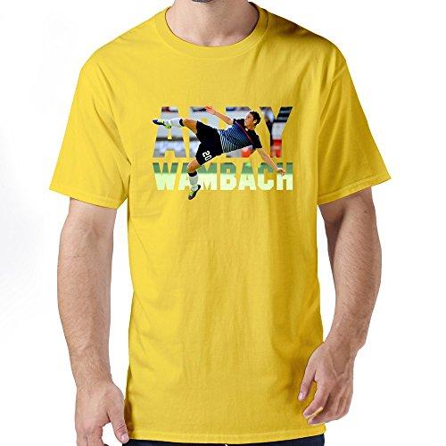 Mens Abby Wambach (3) Yellow Tshirts