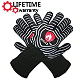 Midas BBQ Grilling heat Resistant Gloves Extreme Heat Resistant Oven Mitts,EN407 Protect up to 932°F-Cooking Oven (1 Pair)