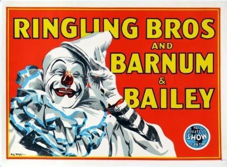 POSTERS Ringling Bros. Cartel del circo payaso 61cm x 91cm ...
