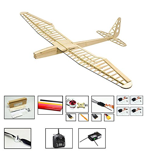 Balsa Wood Radio Remote Controlled Electric F16 Glider Sunbird Aeroplane Laser Cut Kit Wingspan 1600mm Un-Assembled for Adults;Need to Build for Flying Hobby Play (F1604C-L2)