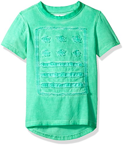 Akademiks Kids Boys' Toddler' Short Sleeve Elongated Fashion Tee Shirt, Stars Teal, 4T