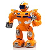 Gallant Super Yellow Robot Game, moving robot game, Walking Robot Toys with Music Lights for Kids, Battery Operated