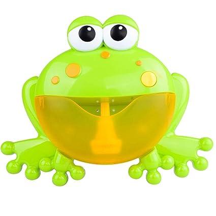 TINGSU - Máquina de burbujas para hacer burbujas, juguete de baño, juguete para bebé