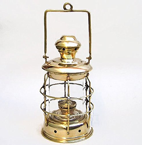 Brass Ship'S Cargo Hold Oil Lantern 14'' Hanging Lamp Nautical Decor by Nautical Home Decoration