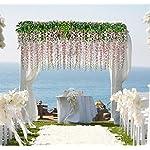 36-Feet-Artificial-flower-Silk-Wisteria-Vine-Rattan-Fake-Wisteria-Garland-Hanging-Flowers-for-Home-Garden-Party-Wall-Wedding-Decor6-Pieces-WHITE-2