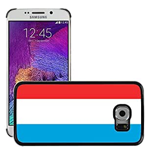 GoGoMobile Slim Protector Hard Shell Cover Case // V00001107 luxembourg National Country Flag // Samsung Galaxy S6 EDGE (Not Fits S6)