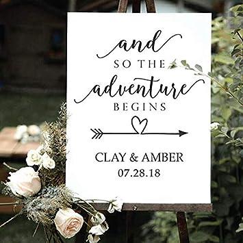 HNXDP Nombre personalizado de la novia y el novio Calcomanía ...