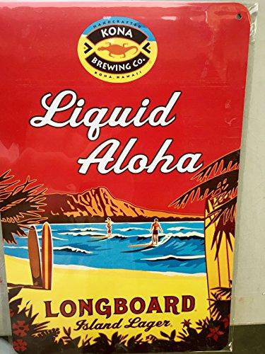 Kona Brewery Longboard Lager Tin Pub Tacker Sign