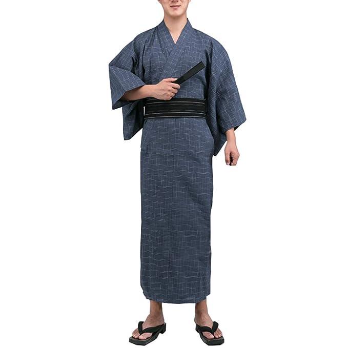 Kimono japon/és Yukata japon/és para hombres Home Robe Vestido japon/és para pijamas # 08