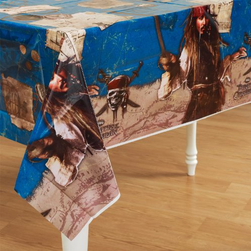 [Pirates of the Caribbean Plastic Table Cover] (Pirate Partyware)