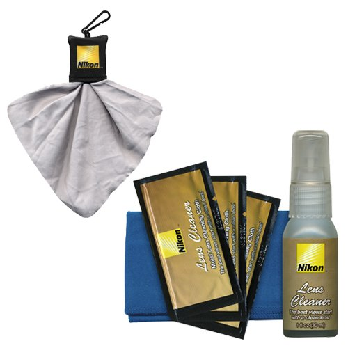 (Nikon Camera & Lens Cleaning Kit + Spudz Microfiber Lens Cloth for Digital SLR Cameras & Lenses)