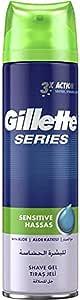 Gillette Series Sensitive Shaving Gel, 2 x 200ml