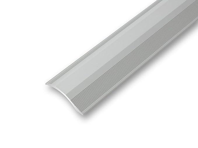 1000 mm, silber /Übergangsprofil Nahtdeckprofil 25 mm flach selbstklebend in 4 Eloxalfarben selbstklebend